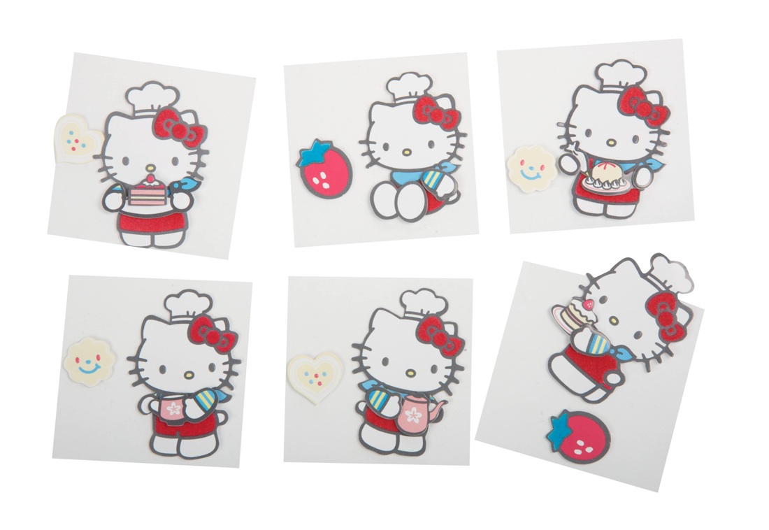 Hello Kitty Flocked 3D Stickers  Grani & Partners